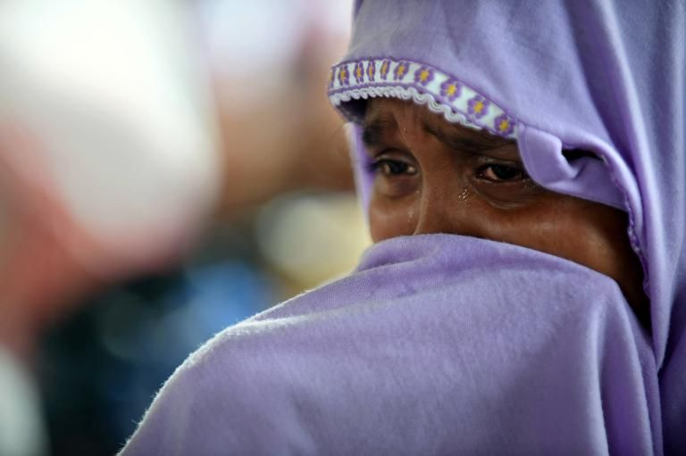 Rohingya sad woman