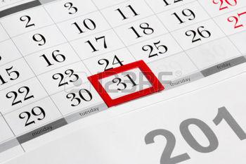 28139726-pagina-del-calendario-con-marcata-data-del-31